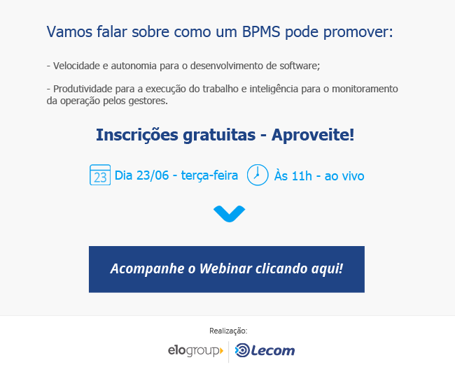 Webinar Lecom e EloGroup